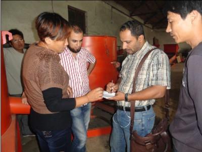 埃及客户来厂定购选金机械